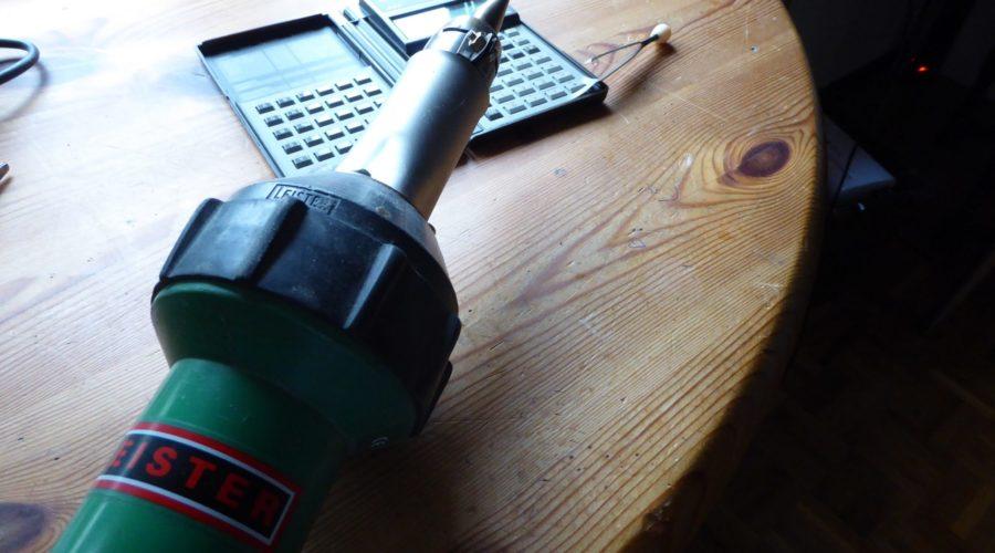 HP28S with Leister heatgun