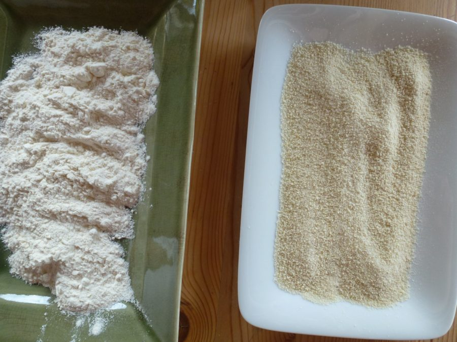 flour and breadcrumbs dish