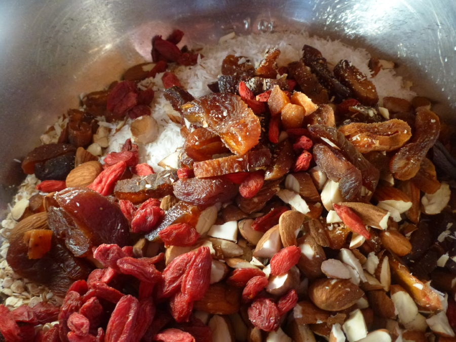 colorful options for your vegan granola, just get creative!