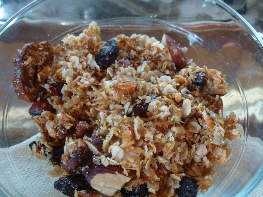 Granola with nuts