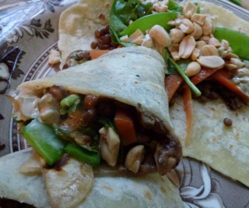 plantaardige burrito
