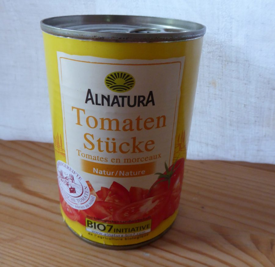 Can of bio diced tomatoes