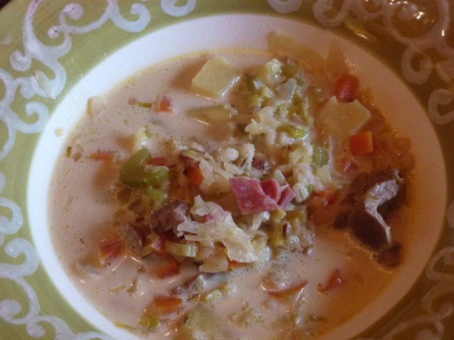 barley soup - Gerstensuppe