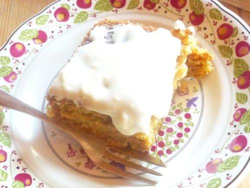 Een stukje van de hemel - carrot cup cake
