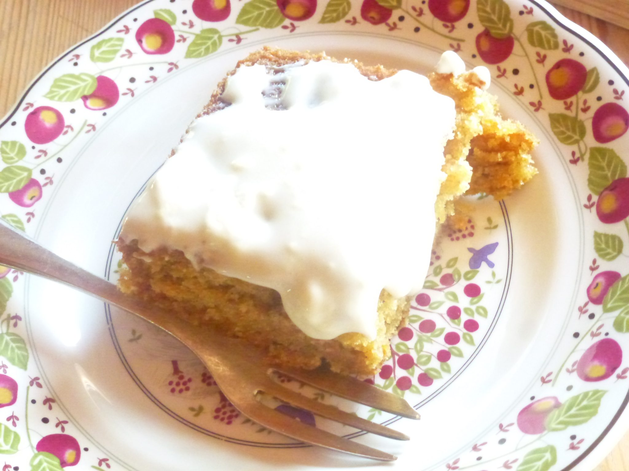 A slice of heaven - carrot cup cake