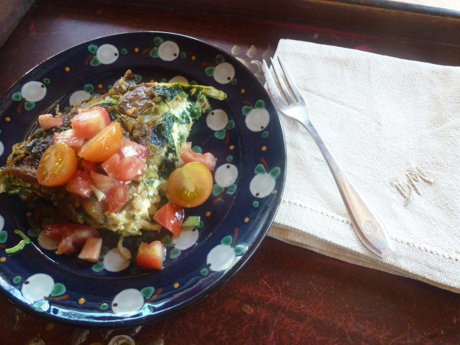 Frittata served on plate