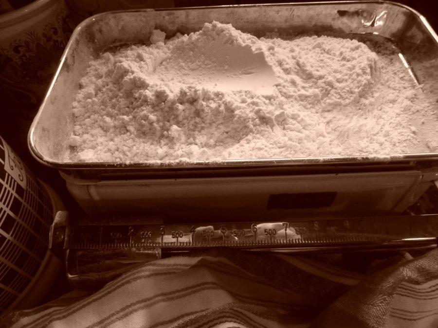 Flour on an old scale