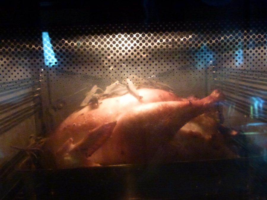 turkey after 1 hour in the oven