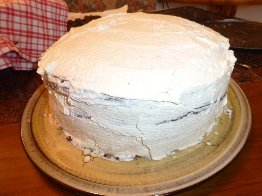 double layered Devils Food Cake