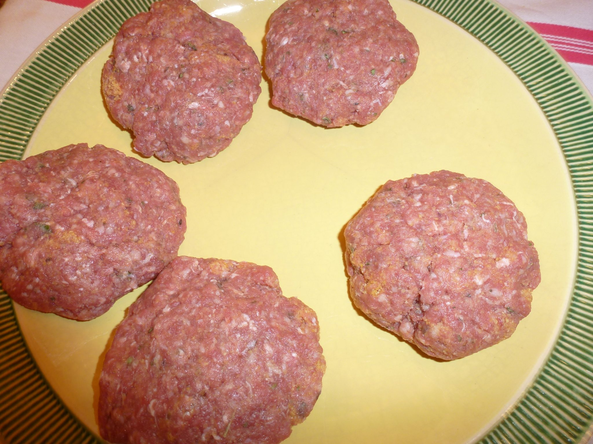 Formed burger patties