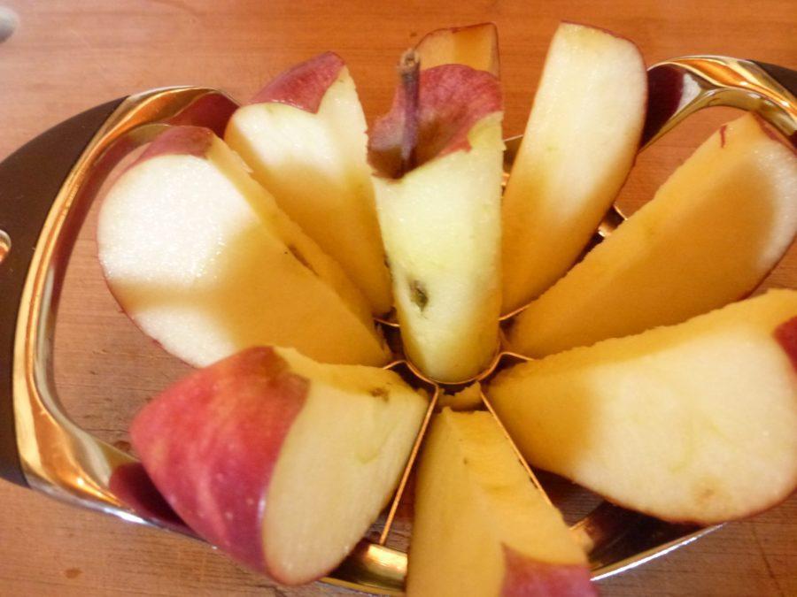 mela strumento con la mela carotaggio