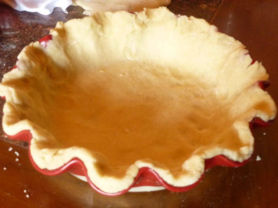 crosta di torta di mele in forma