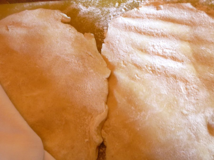 divided dough for top and bottom