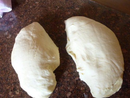 dough for burger buns
