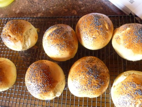 baked burger rolls