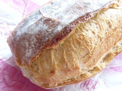 Solothurner Brot where it's cut during baking process