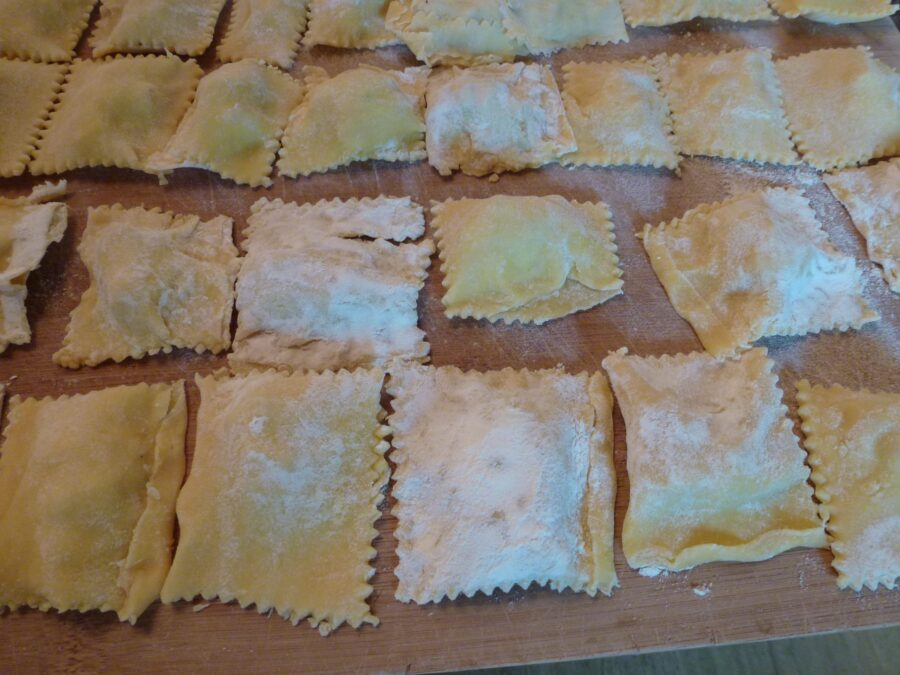 Ravioli ready for cooking