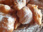 buñuelos de manzana ligera y crujiente