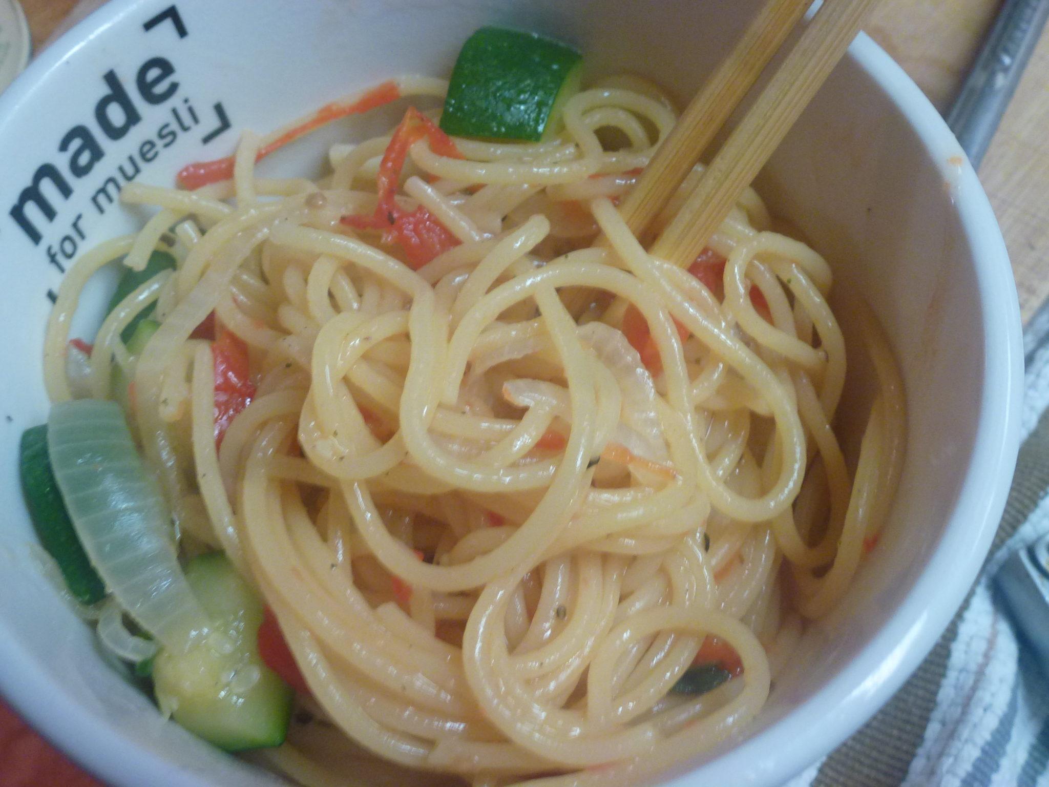 finished one-pot spaghetti