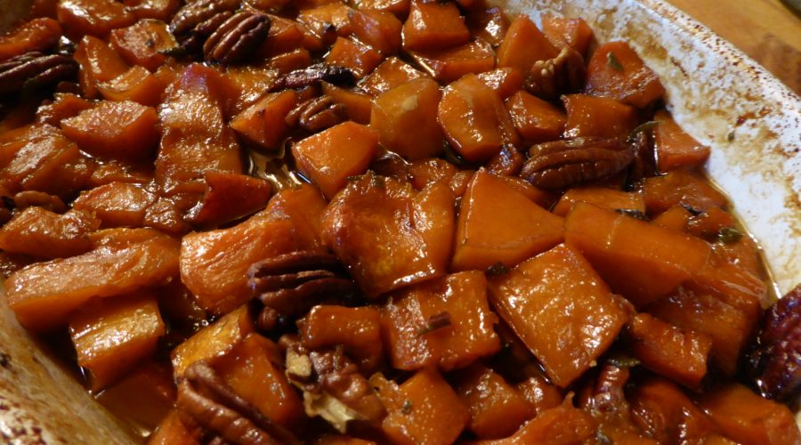 Vegan Butternut squash with pecans