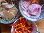 quick pickled fennel, beet and carrot