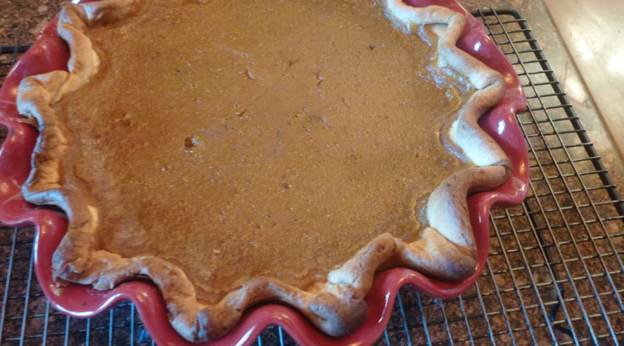 fresh made pumpkin pie
