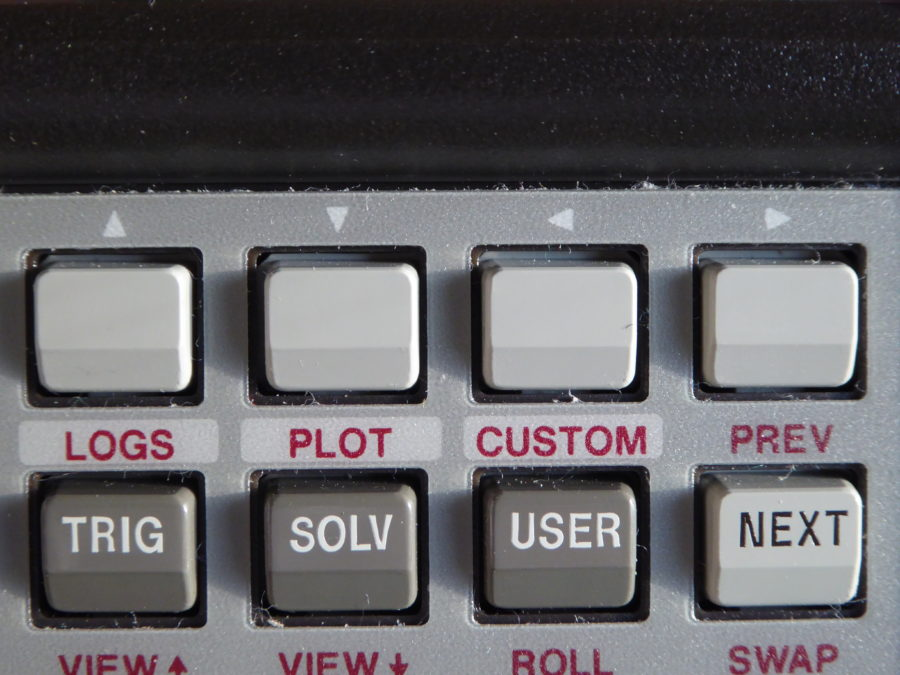 HP28S menu and cursor buttons