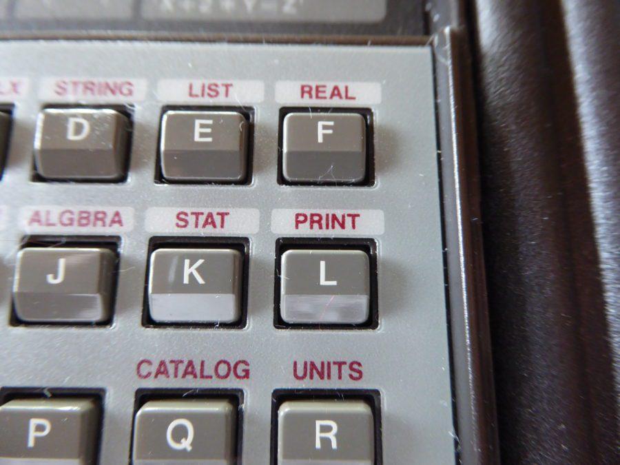 HP28S print menu button