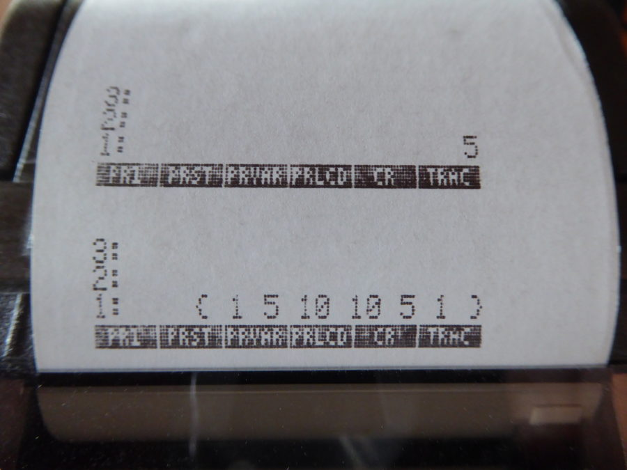 HP pascal triangle printout with level 5