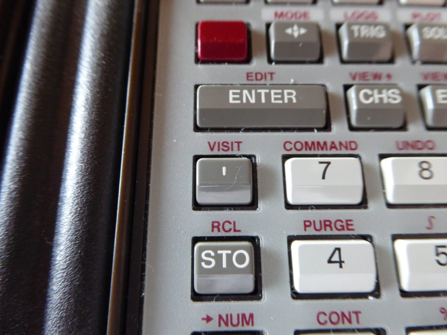 VISIT and STO button HP28S