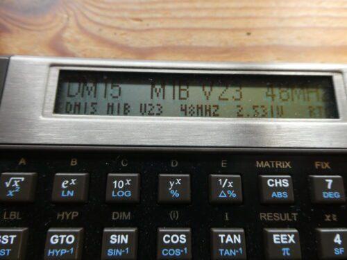 SwissMicros DM15L firmware version