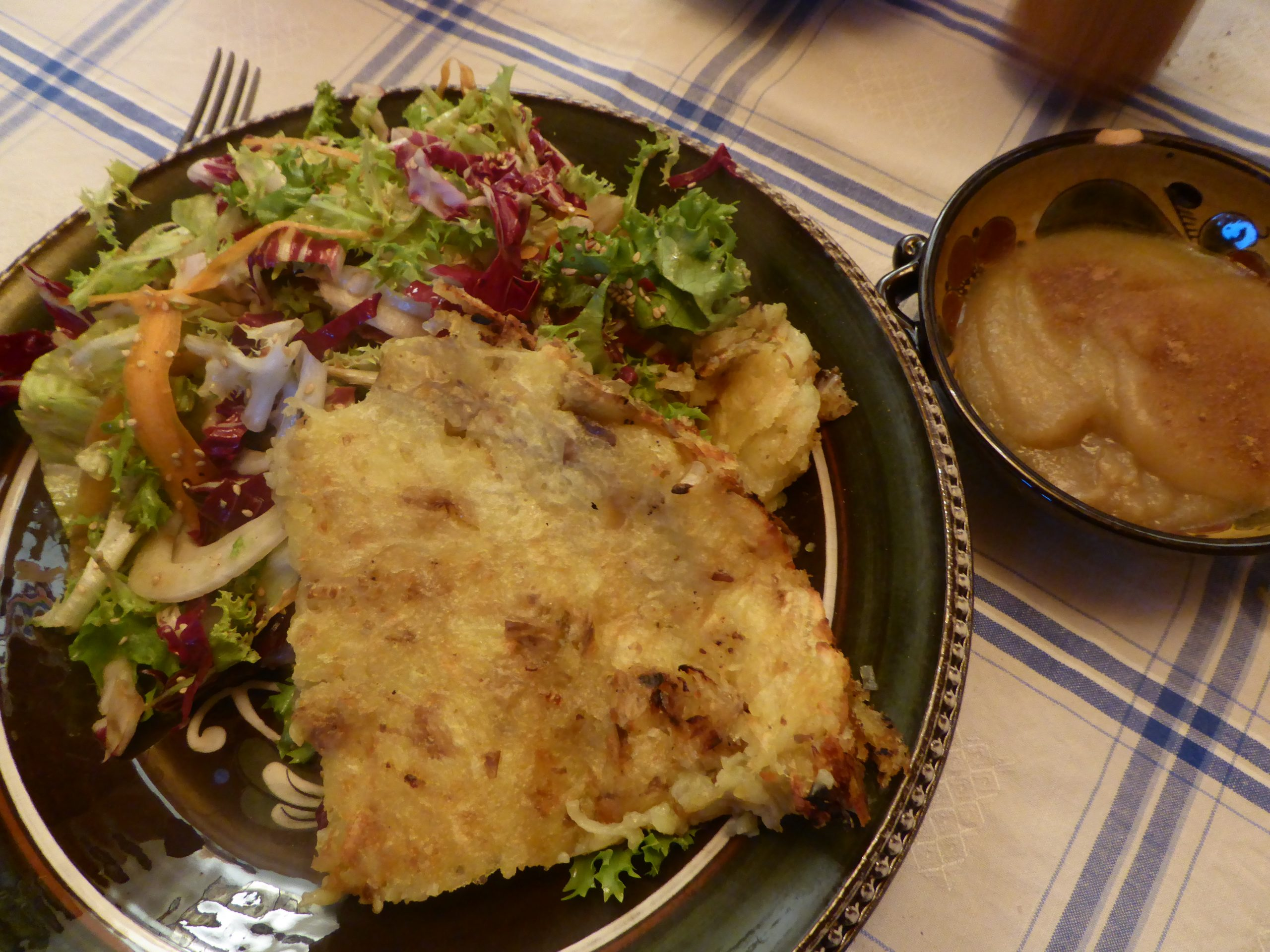 Rosti served with a nice winter salad