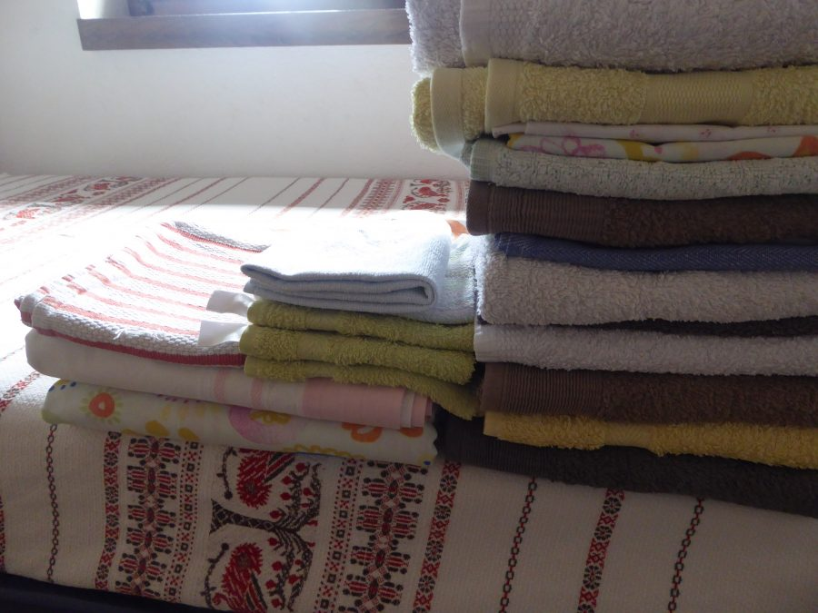 ironed and folded towels