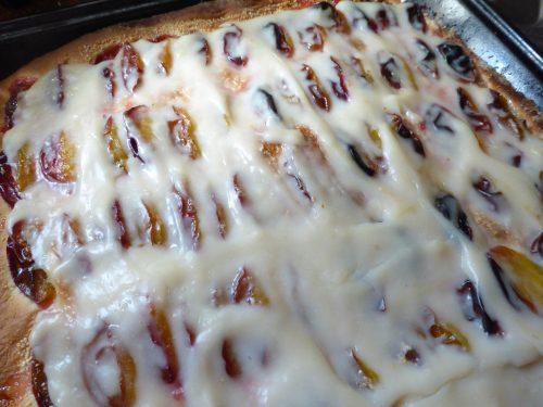 Tray of Vegan Italian Plum Cake