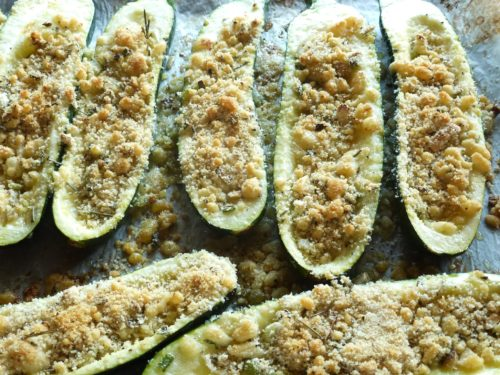 roasted stuffed zucchini