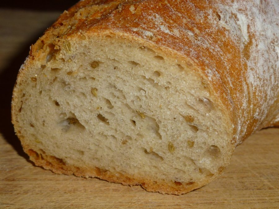 bundner bread cut