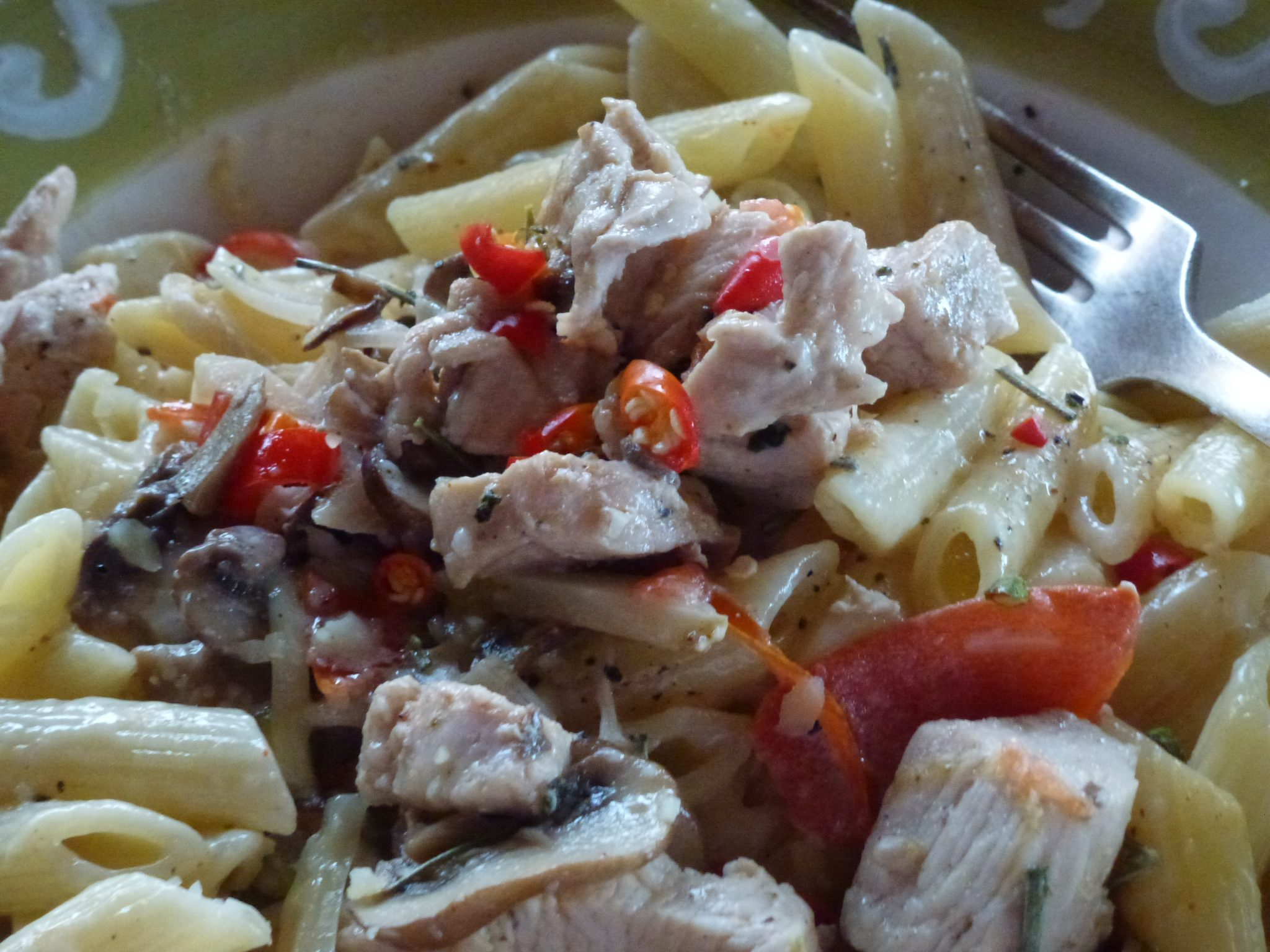 Chicken Stir Fry with Penne