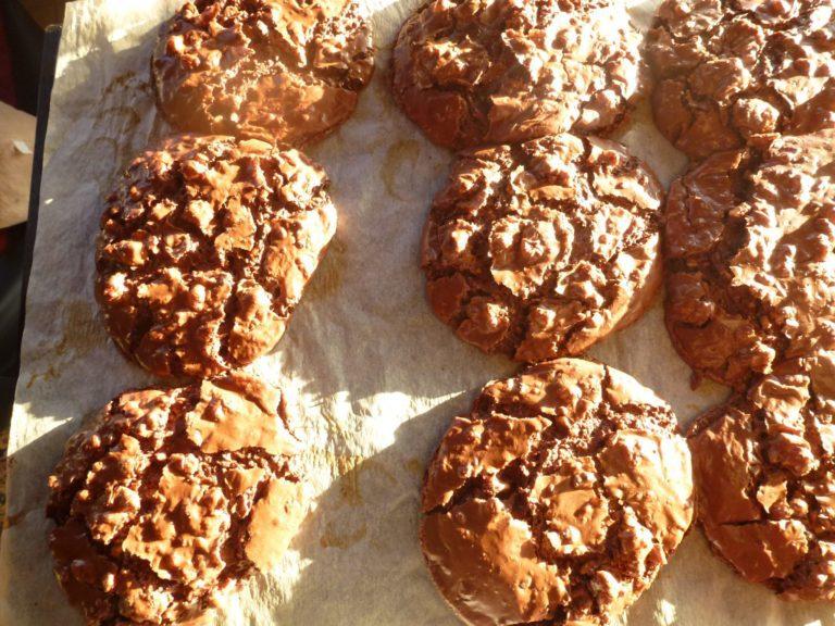 Flourless Chocolate Walnut Cookies