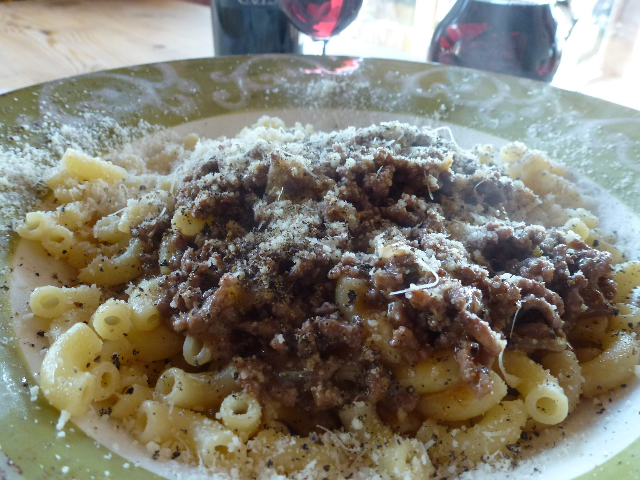 Ground Meat with Elbow Pasta