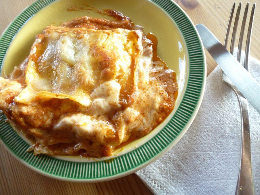 Lasaña con salsa Bechamel