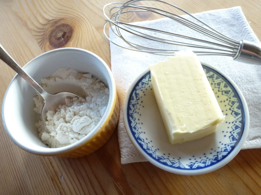 Bechamel Sauce with Cheese ingredients