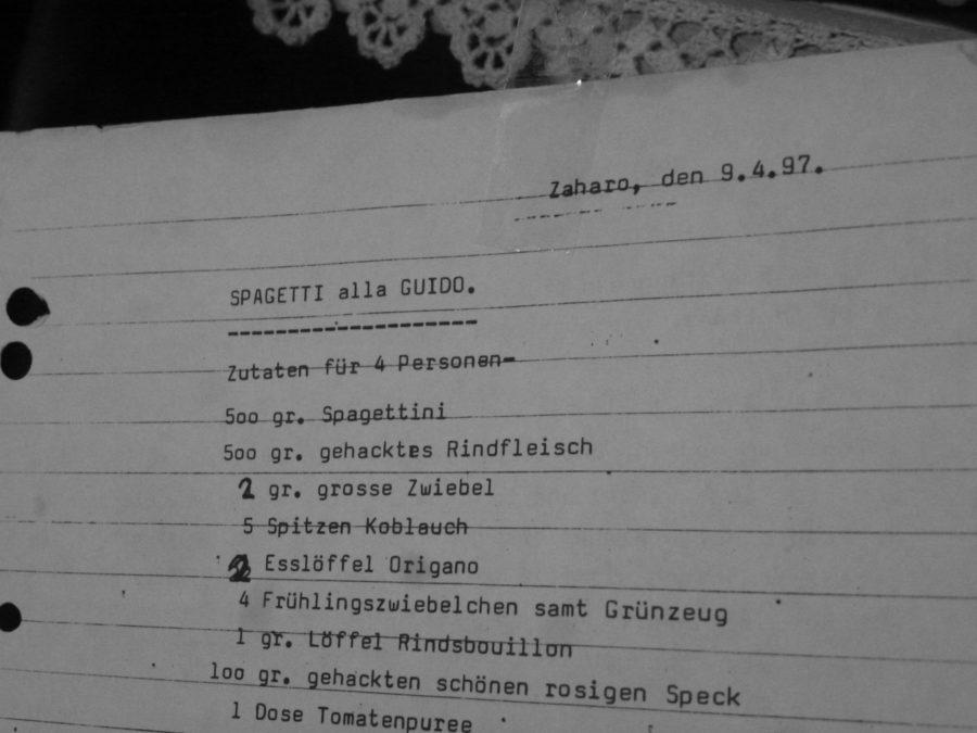 original typewriter recipe