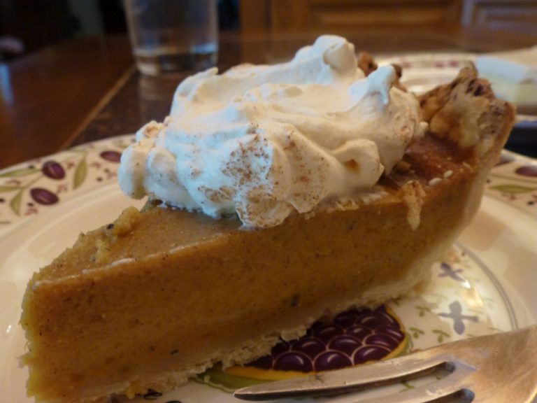 piece of pumpkin chai pie