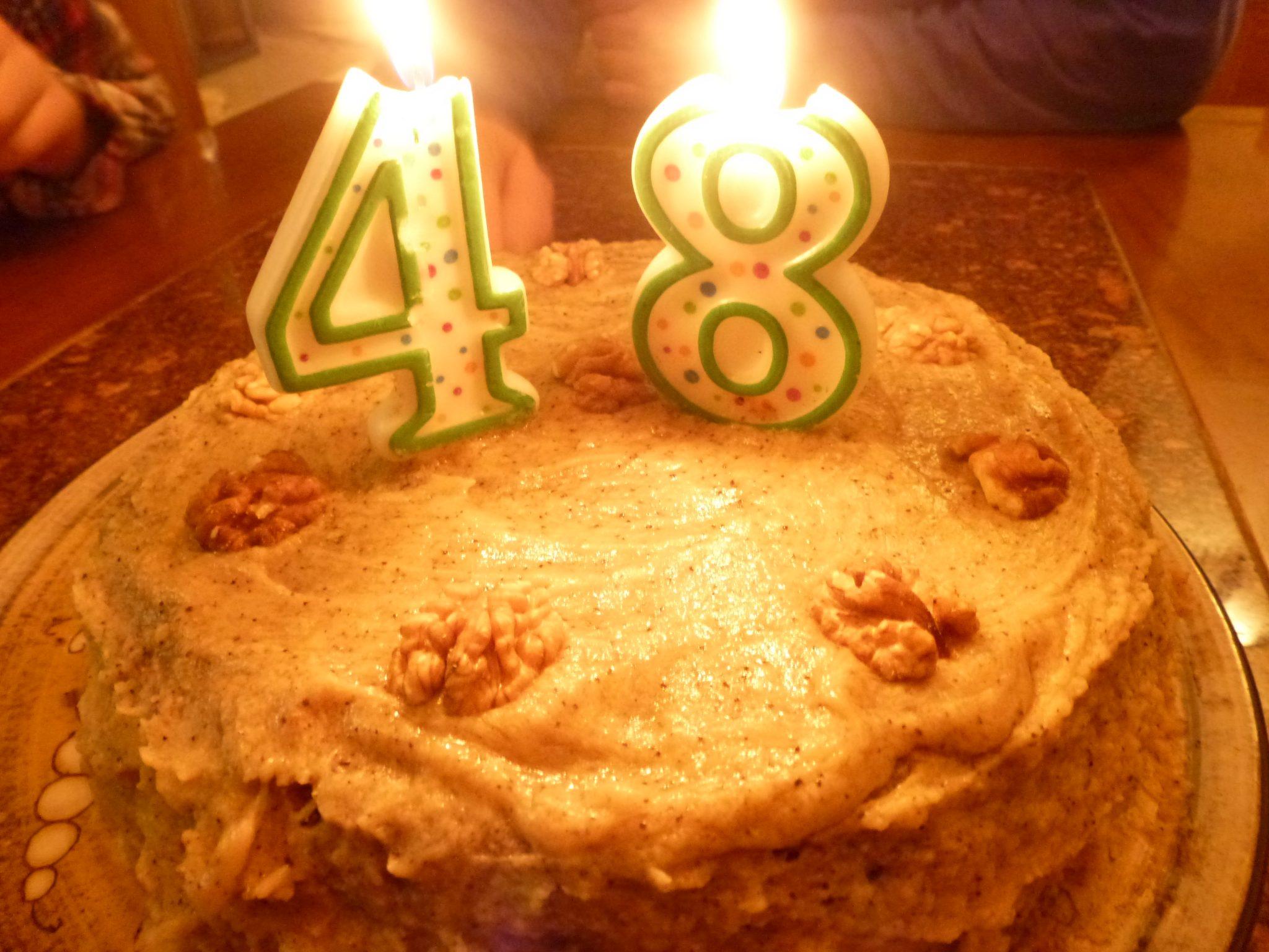 Claras Coffee And Walnut Layer Cake Nigellas Cake Teawea