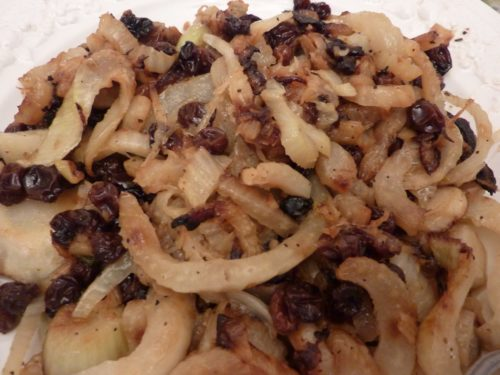 sauteed fennel and raisin