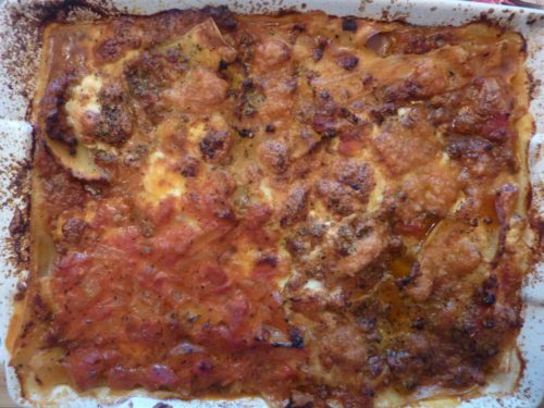 Lasagna - Lasagne after baking