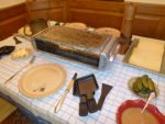 swiss raclette table setting