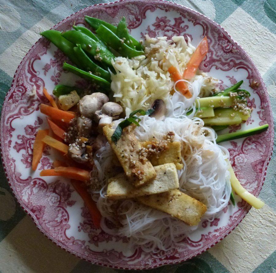 Soba Salad on plate